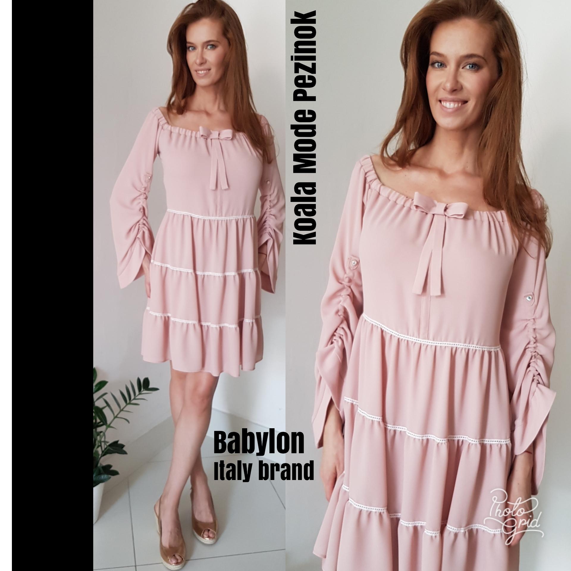 db0ebf609571 Šaty púdrové luxusná talianska značka Eureka Babylon