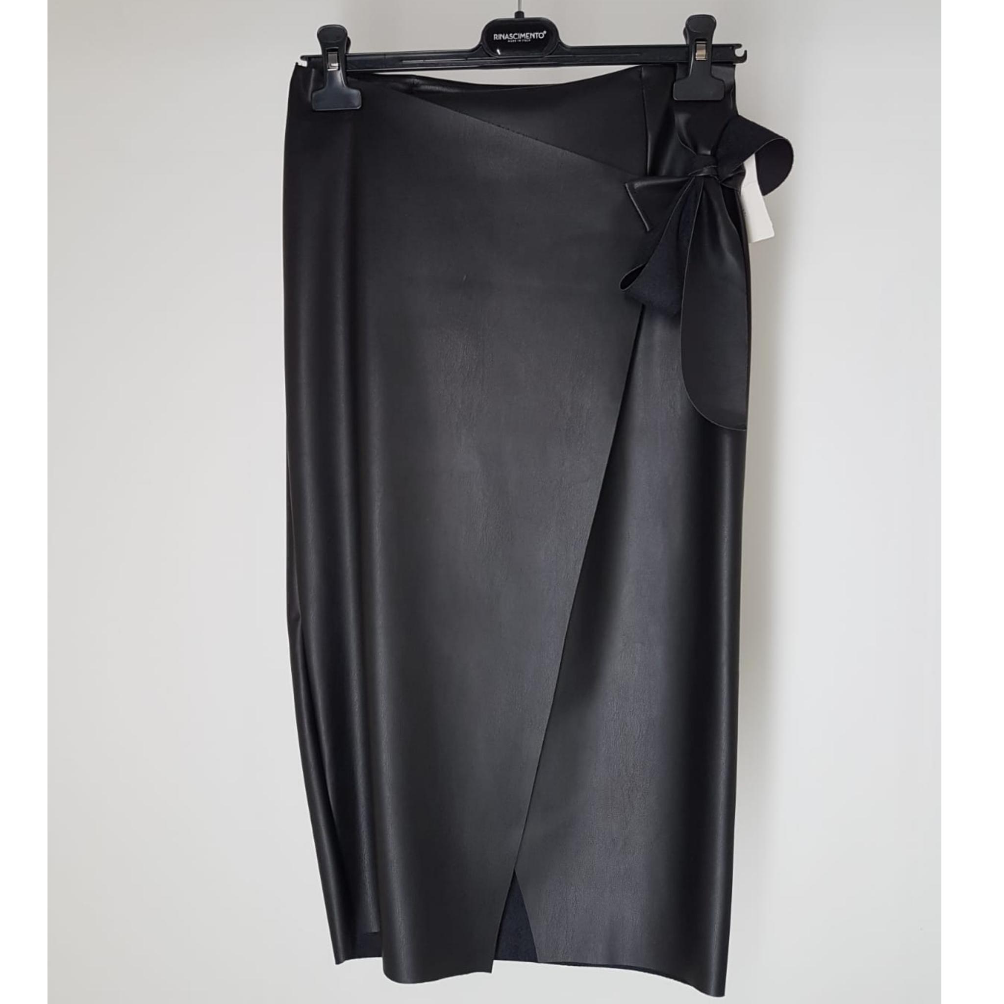 dd8f9ce5ae60 Sukňa čierna koženková zavinovacia na mašľu