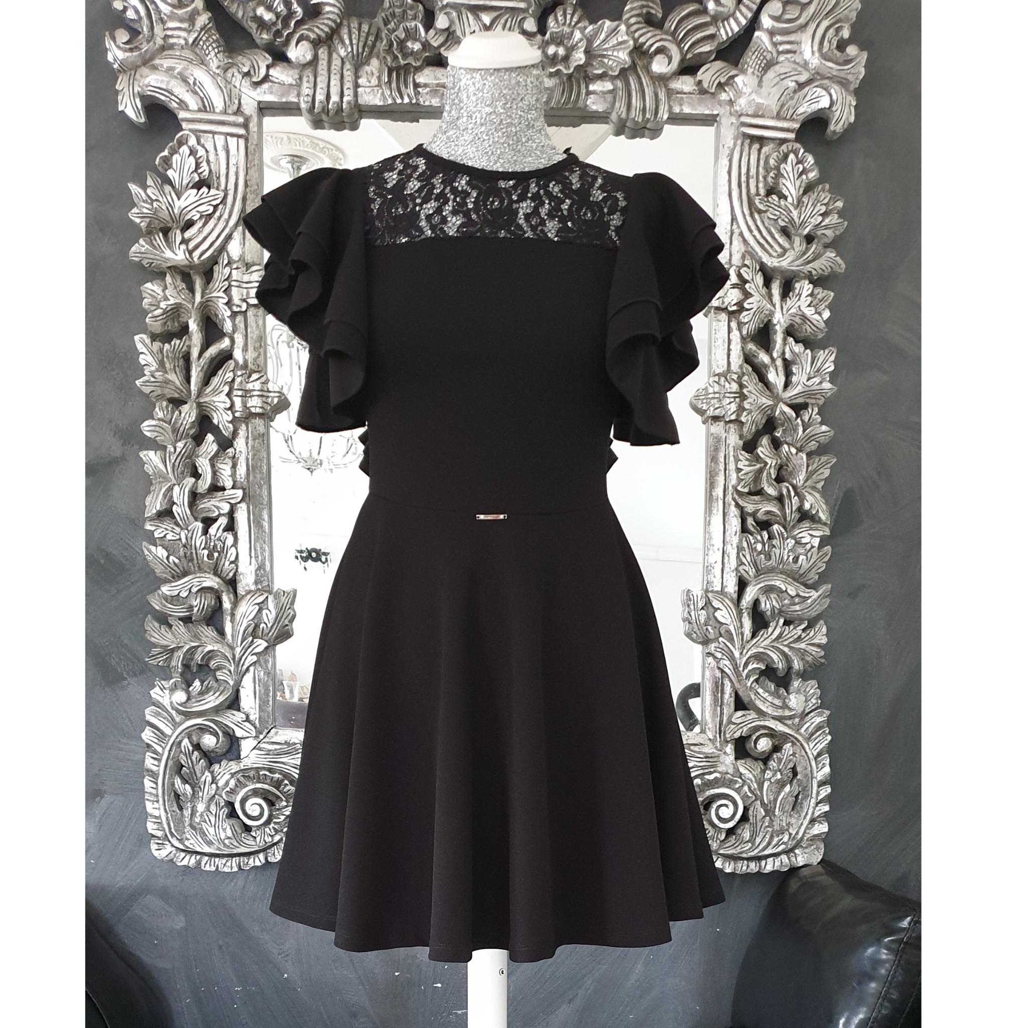 Šaty čierne bez rukávov s čipkou zn. Artigli  5696cd650c4
